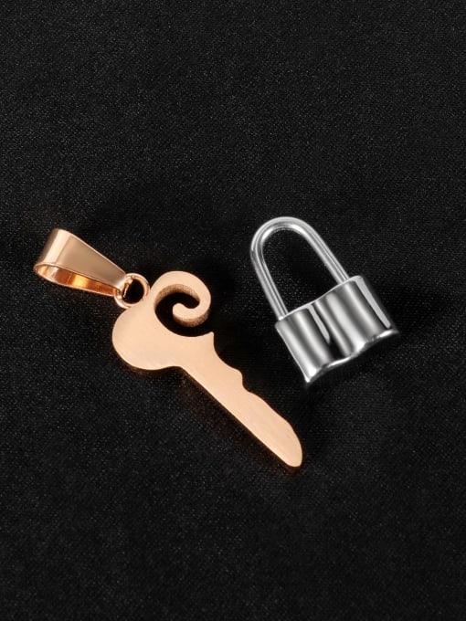 1931 [single pendant] Titanium Steel Key Minimalist Necklace